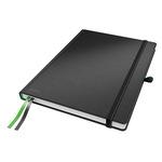 Leitz Notizbuch Complete DIN A4 kariert schwarz 80 Bl.
