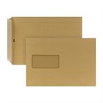 POSTHORN Versandtasche DIN C5 162 x 229 mm (B x H) mit Fenster 90g/m² mit Haftklebung Papier braun
