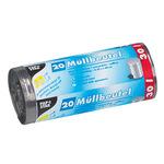 PAPSTAR Müllbeutel 60 x 50 cm (B x H) 17µm 30l grau 4 x 20 St./Pack.