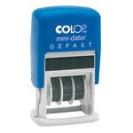 COLOP® Datumsstempel mini-dater 160/L 25 x 12 mm (B x H) GEFAXT 1 Druckzeile blau/rot