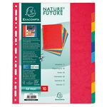 Exacompta Ordnerregister Nature Future DIN A4, Überbreite blanko Manilakarton mehrfarbig 10 Registerblätter