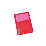 pro|office Sichthülle DIN A4 0,15mm oben, rechts offen nicht dokumentenecht Polypropylen rot 10 St./Pack.