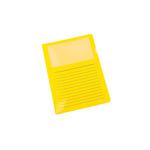 pro|office Sichthülle DIN A4 0,15mm oben, rechts offen nicht dokumentenecht Polypropylen gelb 10 St./Pack.