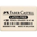 Faber-Castell Radierer Bleistifte, Buntstifte 2,5 x 0,7 x 3,7 cm (B x H x L) Kautschuk weiß