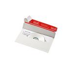 ColomPac® CD/DVD Versandtasche 121 x 220 mm (B x H) ohne Fenster mit Selbstklebung Vollpappe weiß