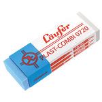 Läufer Radierer PLAST-COMBI Bleistifte, Buntstifte, Kopierstifte, Kugelschreiber, Faserschreiber, Tinte, Tusche 2,1 x 1,2 x 6,5 cm (B x H x L) Kunststoff transluzent/blau