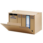 ELBA Archivbox tric system 51 x 33 x 36 cm (B x H x T) DIN A4 mit Archivdruck Wellpappe naturbraun