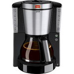 Melitta® Kaffeemaschine Look® de Luxe 27 x 36 x 24 cm (B x H x T) Glaskanne schwarz/silber