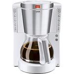 Melitta® Kaffeemaschine Look® de Luxe 27 x 36 x 24 cm (B x H x T) Glaskanne weiß/silber