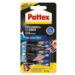 Pattex Sekundenkleber Ultra Gel Mini Trio Gummi, Leder, Porzellan, Holz, Papier, Kunststoff, Metall 3 x 1g