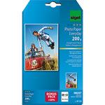 Sigel Fotopapier Everyday 10 x 15 cm (B x H) 200g/m² weiß hochglänzend 72 Bl./Pack.