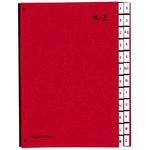 PAGNA Pultordner DIN A4 A-Z Papier, Polypropylen veredelt rot 24 Fächer