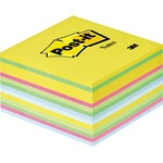 Post-it® Haftnotizwürfel 76 x 45 x 76 mm (B x H x T) ultragelb, ultrapink, ultragrün, hellblau 450 Bl.