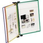 Tarifold® Sichttafelwandhalter DIN A4 Stahlblech 1 x blau, 1 x rot, 1 x gelb, 1 x grün, 1 x schwarz 5 Sichttafeln