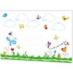 RNK Schreibunterlage 60 x 42 cm (B x H) ohne Folienauflage Papier mehrfarbig Schmetterlinge 30 Bl.