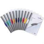 DURABLE Klemmmappe SWINGCLIP® DIN A4 Polypropylen Farbe der Rückseite: transparent Farbe der Klemme: rot, gelb, grün, dunkelblau, schwarz
