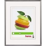 Hama Bilderrahmen Sevilla Dekor 50 x 70 cm (B x H) 30 x 45 cm (B x H) Reflexglas Kunststoff silber matt