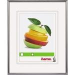 Hama Bilderrahmen Sevilla Dekor 30 x 40 cm (B x H) 20 x 28 cm (B x H) Reflexglas Kunststoff silber matt