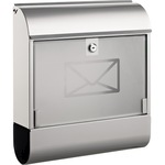 ALCO Briefkasten 41 x 36 x 11,5 cm (B x H x T) Stahl, lackiert silber