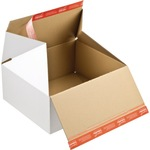 ColomPac® Versandkarton Premium Innenmaße: 30,6 x 12,7 x 18,6 cm (B x H x T) Außenmaße: 31 x 13,3 x 19 cm (B x H x T) Wellpappe 1-wellig weiß