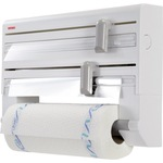 Leifheit Küchenrollenhalter Parat 7 x 26,5 x 38,5 cm (B x H x L) inkl. 1 x Küchenrollenhalter, 2 x Rollenhalter mit Schneidvorrichtung Kunststoff Farbe: weiß