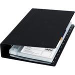 Sigel Visitenkartenringbuch 14,7 x 26,5 x 4,4 cm (B x H x T) A-Z Werkstoff: Kunststoff schwarz 25 Hüllen