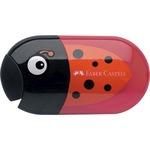 Faber-Castell Doppelspitzdose 8 und 10mm oval Material des Spitzers: Kunststoff Material des Behälters: Kunststoff