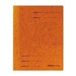 Herlitz Spiralhefter DIN A4 355g/m² mit Beschriftungsfeld Colorspankarton orange