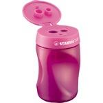 STABILO® Dosenspitzer EASYsharpener 3,15 und 7,42 und 9,5mm Kunststoff pink