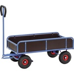 Fetra Handwagen 70 x 118,5 x 137,5 cm (B x H x L) 400kg Stahl/Holz blau/braun