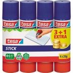 tesa® Klebestift Stick ecoLogo® nicht nachfüllbar 4 x 20g 4 St./Pack.