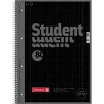 BRUNNEN Collegeblock Student Colour Code DIN A4 kariert mit Rand innen/außen 90g/m² onyx schwarz 80 Bl.