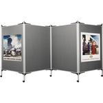 magnetoplan® Präsentationswand mobil SET 2 518,5 x 180 cm (B x H) grau