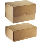 ratioform Stülpdeckelkarton Innenmaße: 24 x 8 x 32 cm (B x H x T) Wellpappe braun