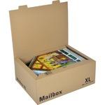 ColomPac® Versandkarton Mailbox XL Innenmaße: 46 x 17,5 x 33,5 cm (B x H x T) Außenmaße: 46,5 x 19,4 x 34,9 cm (B x H x T) Wellpappe 1-wellig braun