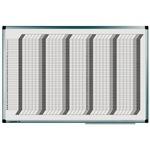 Legamaster Wochenplaner PREMIUM 90 x 60 cm (B x H) inkl. Zubehörsatz Aluminium weiß