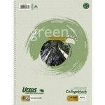 Ursus® Collegeblock Green DIN A4 kariert 60g/m² 80 Bl.