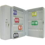 WEDO® Schlüsselschrank 28 x 37 x 6 cm (B x H x T) inkl. 2 Schlüssel Stahlblech, pulverbeschichtet lichtgrau