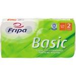Fripa Toilettenpapier Basic 2-lagig 100 % Recyclingpapier weiß 250 Bl./Rl. 8 Rl./Pack.