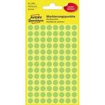 Avery Zweckform Markierungspunkt 8mm Papier grün 416 Etik./Pack.
