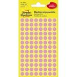 Avery Zweckform Markierungspunkt 8mm Papier pink 416 Etik./Pack.