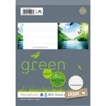Ursus® Notizblock Green DIN A5 kariert 48 Bl.