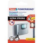 tesa® Klebepad Powerbond® Ultra Strong Kacheln, Holz, Kunststoff Innenbereich, Außenbereich 20 x 60 mm (B x L) weiß 9 St./Pack.