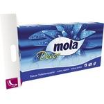Mola Toilettenpapier Decor 3-lagig Tissue weiß 150 Bl./Rl. 8 Rl./Pack.