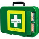 CEDERROTH Erste Hilfe Koffer 42 x 30 x 11,8 cm (B x H x T) DIN 13157 grün