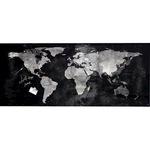 Sigel Glasboard Artverum 130 x 55 x 1,5 cm (B x H x T) Tafel magnethaftend inkl. starker SuperDym-Magnete Sicherheitsglas design World-Map