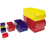Sichtlagerkasten 120 x 114 x 247 mm (B x H x T) Polyethylen rot