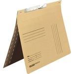 Falken Pendelhefter DIN A4 320g/m² kaufmännische Heftung mit Organisationsaufdruck Manilakarton, recycelt chamois