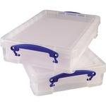Really Useful Box Aufbewahrungsbox 39 x 8,8 x 24 cm (B x H x T) DIN A4 4l Polypropylen transparent