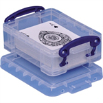 Really Useful Box Aufbewahrungsbox 12 x 4,5 x 8,5 cm (B x H x T) 0,2l Polypropylen transparent